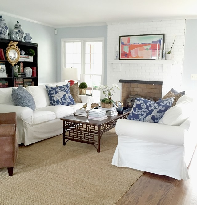 ektorp living room ideas for walls ikea sofas our emily a clark two facing in