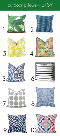 10 Pretty Outdoor Pillows On Etsy - Emily A. Clark
