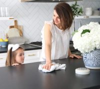Our Black Honed Granite Kitchen Countertops - Emily A. Clark
