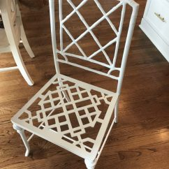 Bamboo Dining Chair Portable Potty For Elderly Quick Change Faux Chairs Emily A Clark White