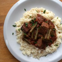 Lubia: Lebanese Stewed Beef, Tomatoes, and Green Beans