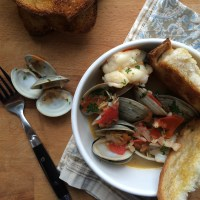 Steamed Clams and Shrimp in Beer Infused Broth