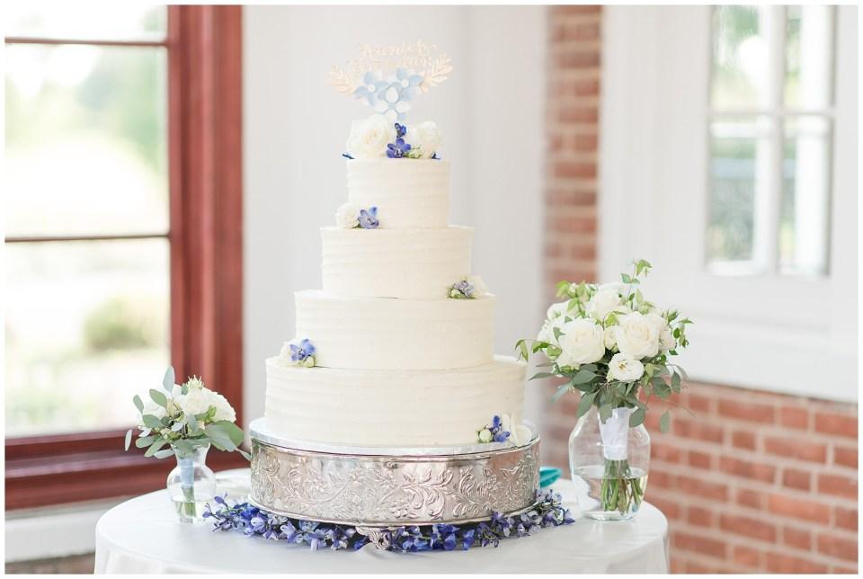 raspberry-plains-manor-reception-wedding-photo-four-tiered-french-blue-wedding-cake