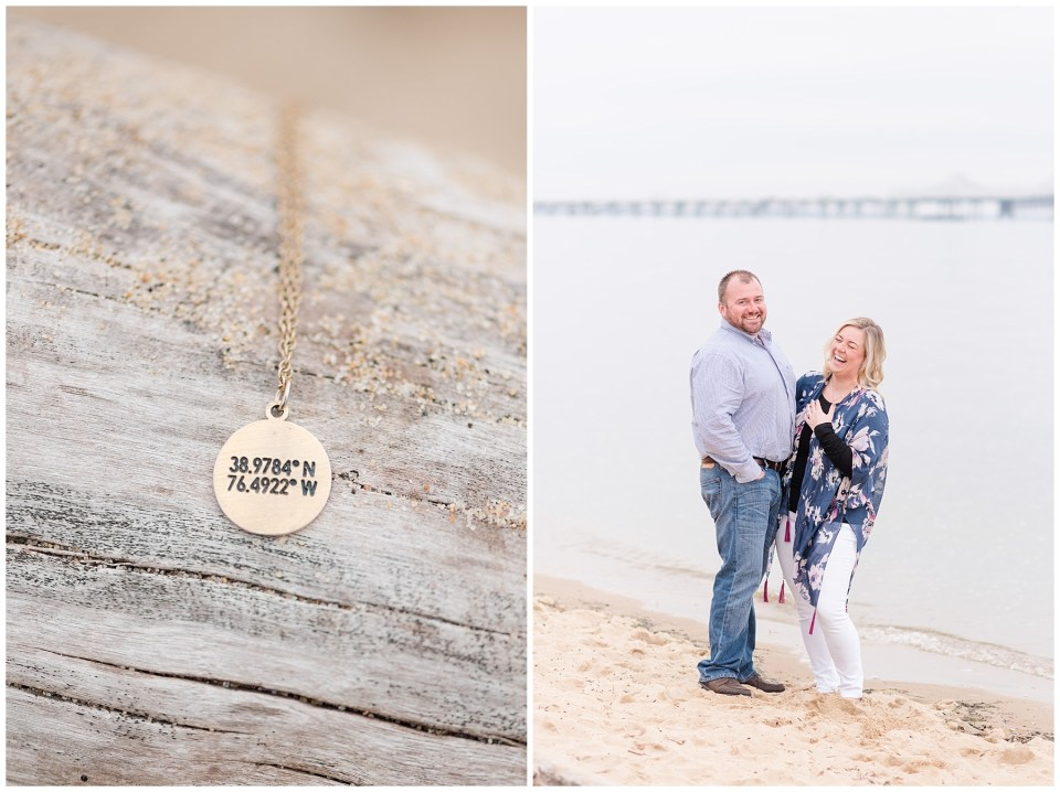 coordinates-necklace-beach-engagement-photo