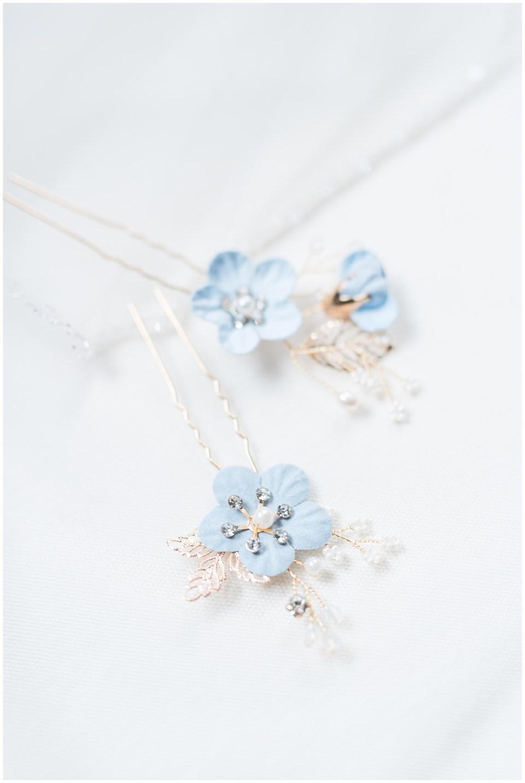 dusty-blue-gold-floral-wedding-hair-piece