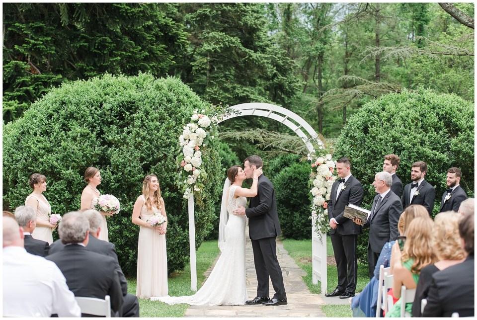 rust manor garden ceremony photo