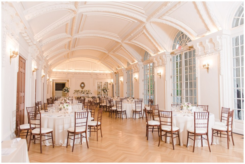 elegant reception space in the DAR Washington DC wedding venue
