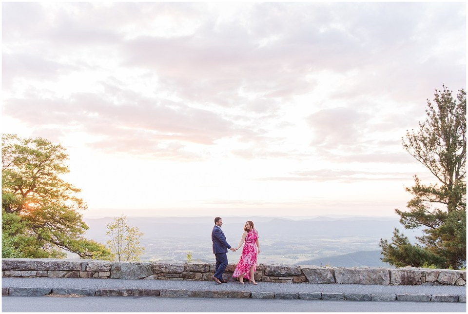 skyline-drive-sunset-mountain-engagement-photo