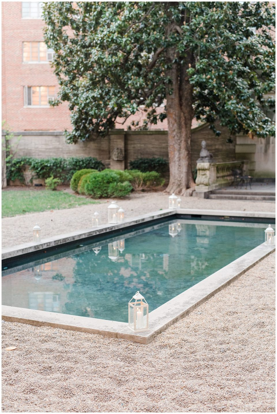 Larz Anderson House reflective pool photo
