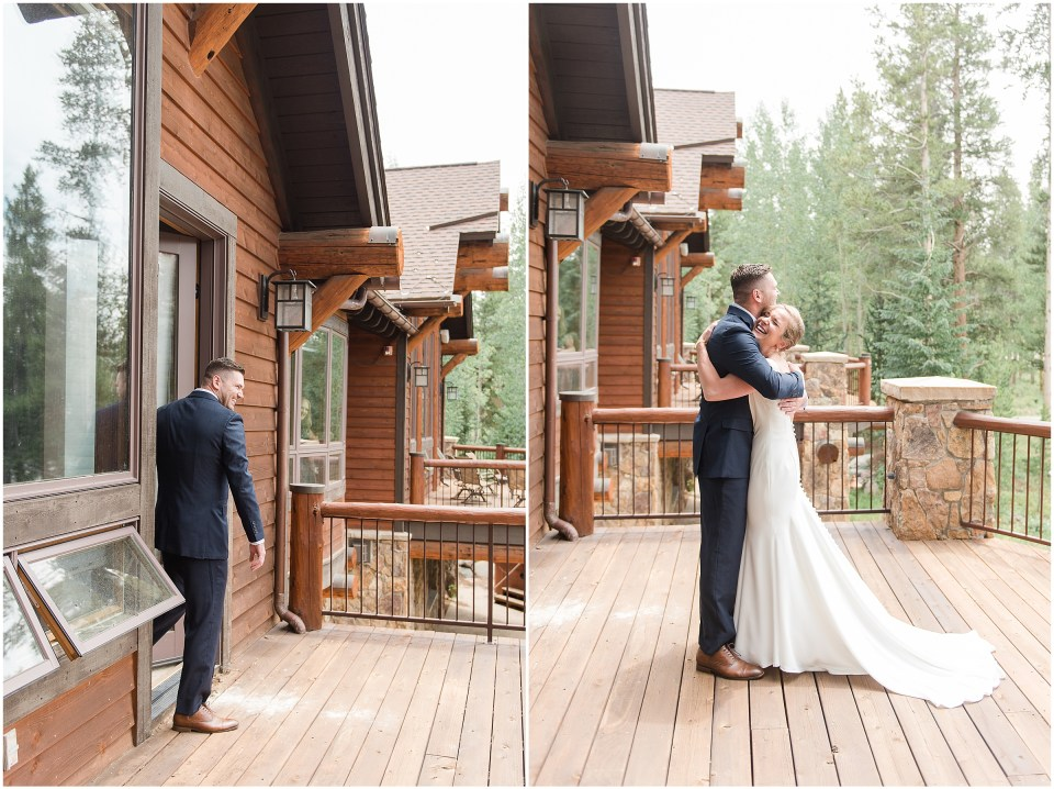 first look breckenridge colorado wedding