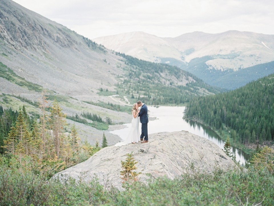 blue lakes trailhead breckenridge colorado elopement photo