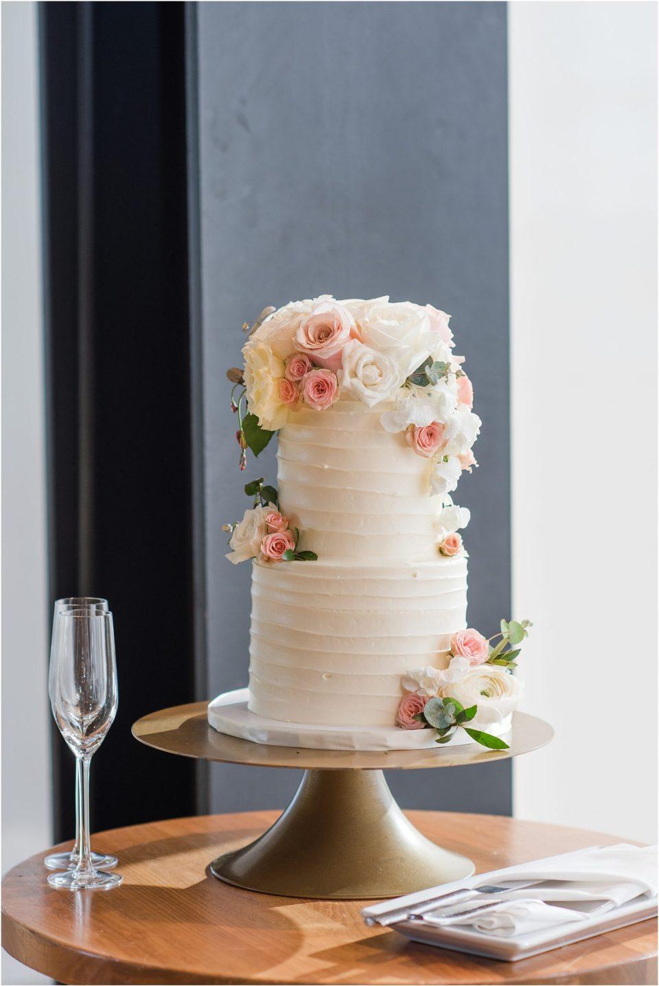 blush spring wedding cake photo idea dc wedding