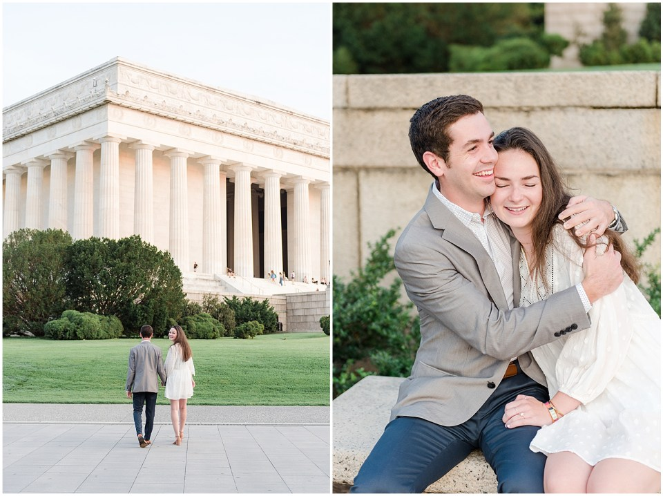 lincoln memorial engagement photo