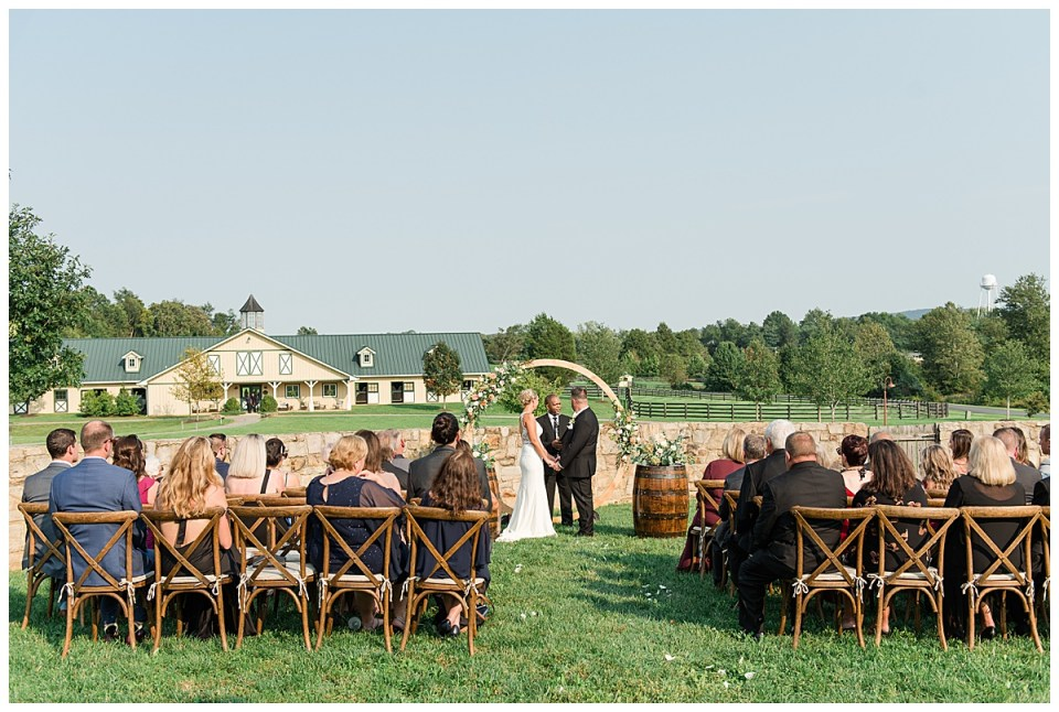 salamander resort fall wedding photo culinary garden ceremony photo
