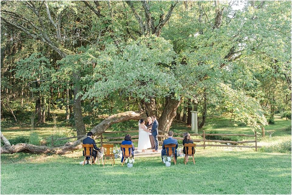 ballenger farm wedding ceremony photo