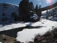 Frozen fly-fishing