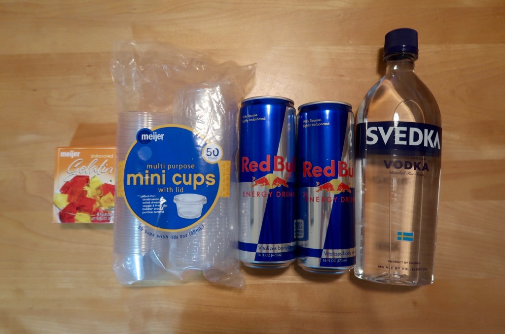Red Bull Vodka Jello Shots Recipe • Emily Andy