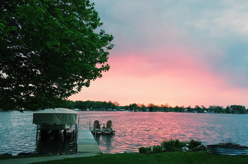 Gun Lake Michigan sunset - travel vlog summer 2017