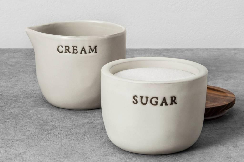 Hearth & Hand Cream and Sugar