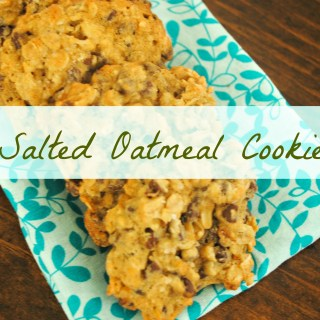 Chocolate Chip Oatmeal Sea Salt Cookies