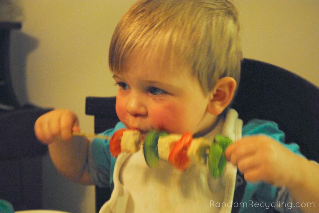 Swordfish Kebab for toddlers Random Recycling