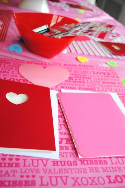 Valentine's Day Preschool Card Making Party