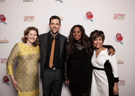 Our picture with Chris Mann and Amber Riley