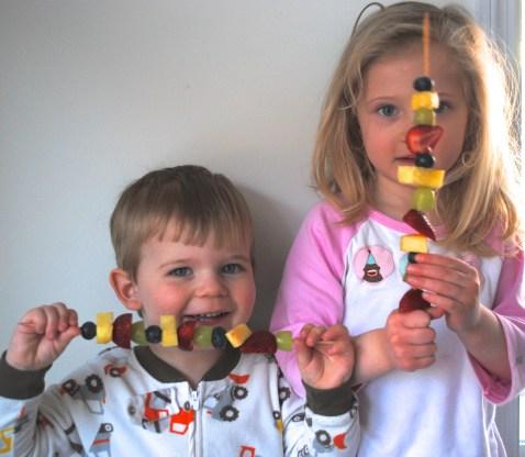 Eat the Rainbow Fruit Skewers RandomRecycling.com