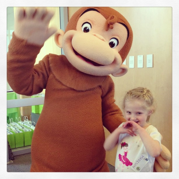 Curious George makes her day