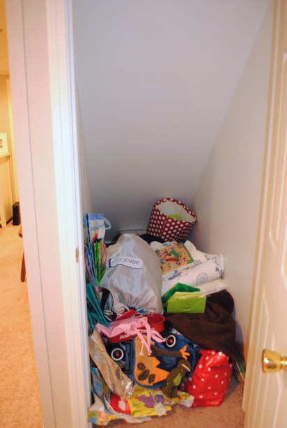 Crowded Closet Before
