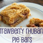 Strawberry Rhubarb Pie Bars