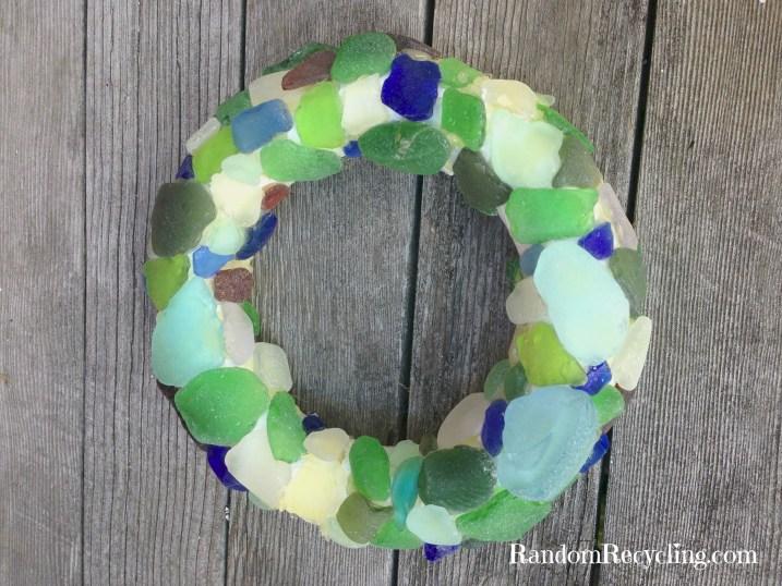 Seaglass Wreath via RandomRecycling
