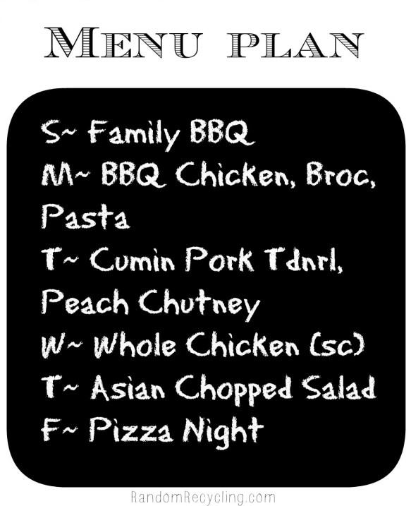 Sept meal plan week 2 via RandomRecycling