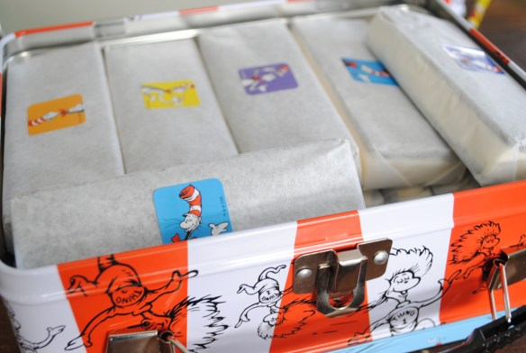 Dr Seuss party - decorate ice cream sandwiches with stickers