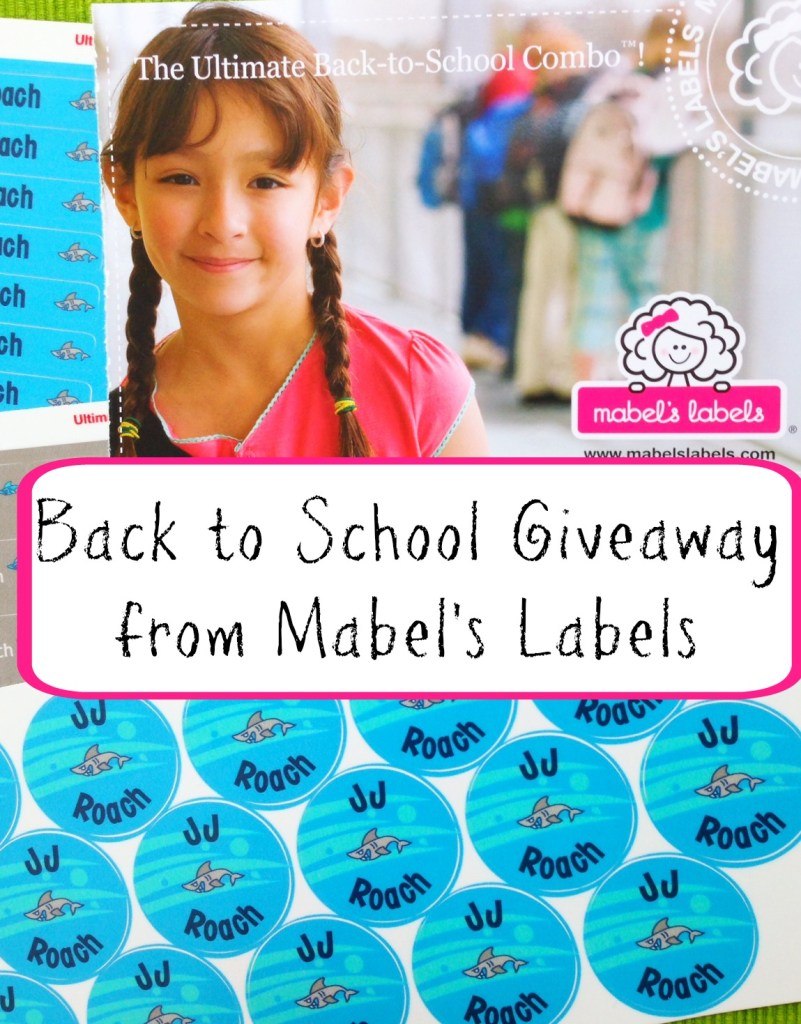 Back to school Giveaway from Mabels Labels