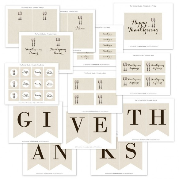 Fun Give Thanks printables