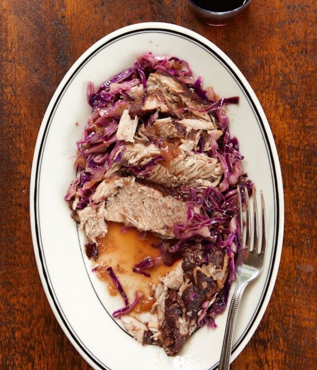 Trying this in the slow cooker~ pomegranate braised pork loin