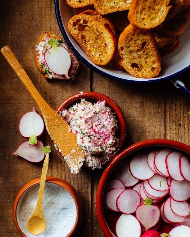 Radish butter appetizer for spring
