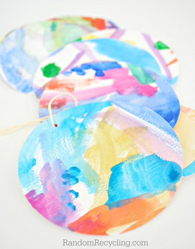 Reuse kid's artwork and create gift tags
