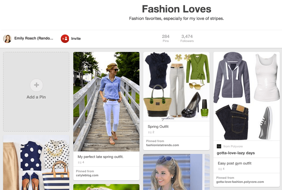 Create a Pinterest board to help your StitchFix stylist