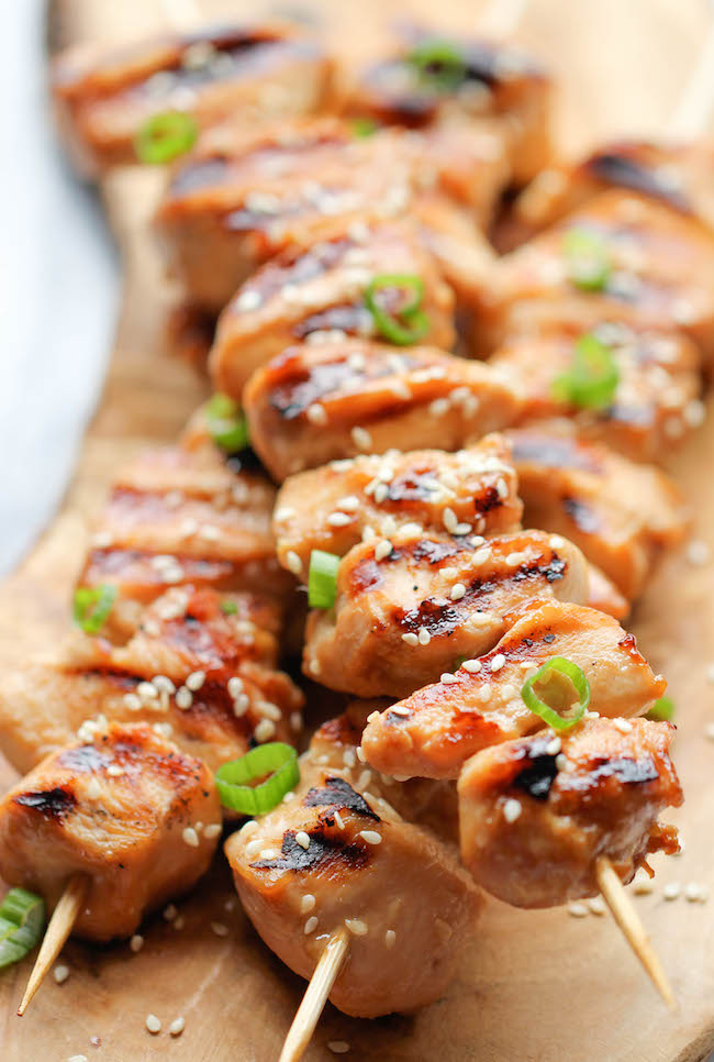 Chicken Teriyaki Kababs
