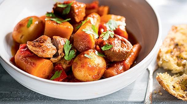Pressure cooker pork stew