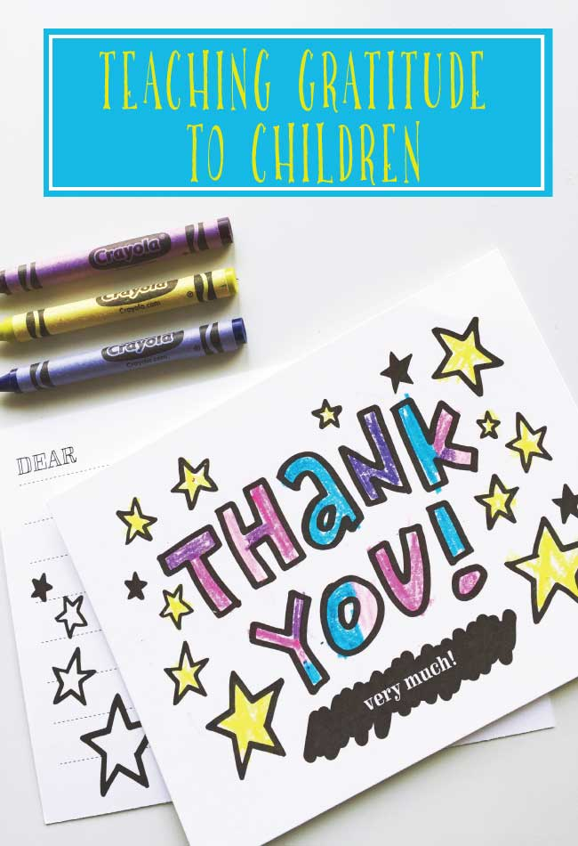 Create Color In Kids Thank You Note Cards