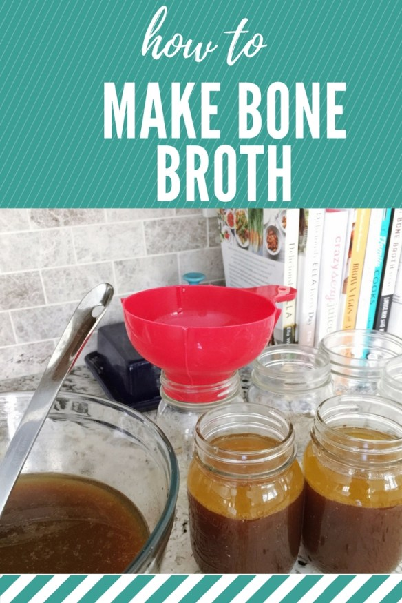 How to Make Bone Broth, with recipes for beef bone broth, chicken bone broth, and vegan broth.