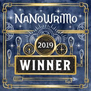 NaNoWriMo 2019 winner badge