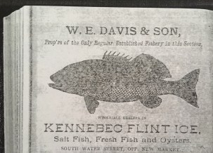 xerox of old timey ad for W.E. Davis and Son fishery