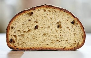 cross-section of slices loaf of bread
