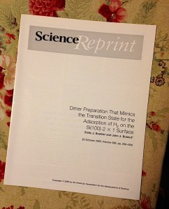 reprint of science article published in Science magazine