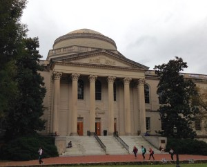Wilson Library with a dome and columns and steps