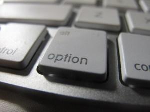 """option"" key on a computer keyboard"